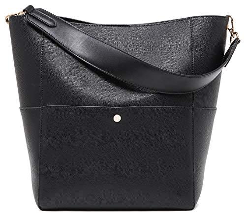 BOYATU Leder Umhängetaschen für Frauen Eimer Tote Hobo Handtasche -