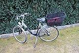 Marcus´ Weidenhandel Buffy - Hundefahrradkorb für Gepäckträger aus Weide mit Metallgitter und Kissen Schwarz XL oder XXL Gepäckträgerkorb Weidenkorb Hundekorb Tierkorb (XXL mit Kissen)