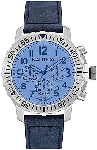 Nautica Orologio Cronografo Quarzo Uomo con Cinturino in Pelle NAI19534G
