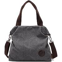 M-Queen Donna tela di canapa Borsa Borsa a spalla Tote bag blu moda progettazione bag