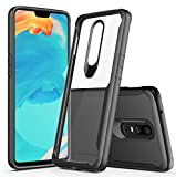 #5: Bounceback ® (Robust Series) Oneplus 6 (2018) Cover Case Shock Proof Anti Slip Clear Transparent Soft TPU Back Cover Case for Oneplus 6 (Charcoal Black)