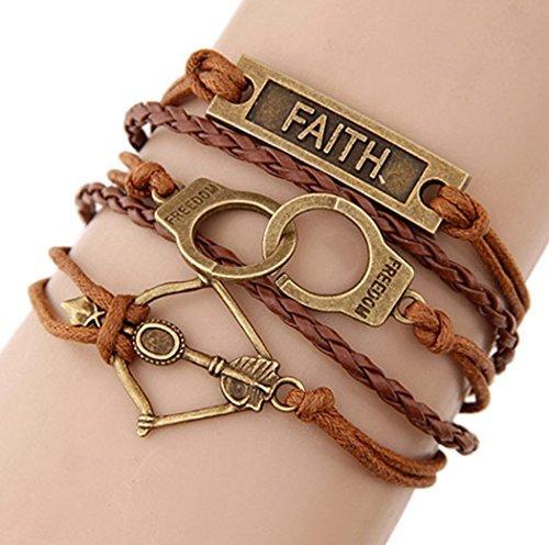 time-pawnshop-retro-faith-manette-arco-e-freccia-intrecciato-a-mano-multistrato-bracciale