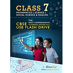 Class 7 Powerful Dynamic CBSE Aligned Tutorials in a Pen Drive