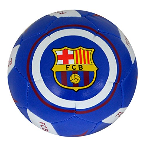Nuevo Equipo Oficial De Fútbol Mini Suave Entrenamiento Habilidades Bola (varios equipos a elegir) all Balls come in Empaquetado Oficial - sintético, Barcelona FC, 100% poliéster, Mini Balón 10 cm Habilidades