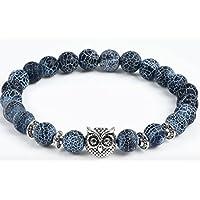 Selia Armband Eule Armreif Damen blau Perlen Modeschmuck handgemacht Geschenk Braclet