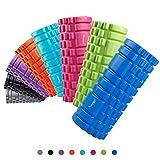 Syourself Foam Roller da massaggio-33cmx14cm-Qualità Superiore-Rullo per riabilitazione, crossfit, yoga e pilates, punti di innesco per il tessuto profondo massaggio e il rilascio miofasciale+Borsa(Rosa)