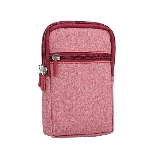 Premium Outdoor Nylon Belt Clip Holster Tasche Schutzhülle für HTC U11/HTC U Ultra/OnePlus 5/5T/Google Pixel 2XL/Huawei Mate 10pro/P10Plus/Blu R2/S1/Asus Zenfone 4Pro, Rose Premium-magenta Rose