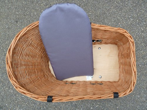 Tigana Hundefahrradkorb für den Gepäckträger aus Weide 60 x 39 cm - 5