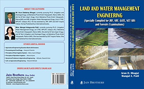 Land And Water Management Engineering Compiled for JRF, SRF, GATE,NET ARS and Forestry Examination
