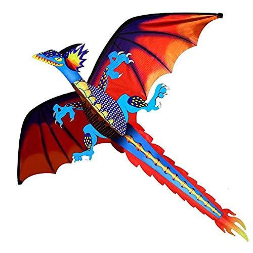 Cometas Caixia Fácil de Volar - Mejore clásica del dragón - 139.7 cm x 157.48 cm Una línea con Cola - con Carrete ( Size : 700m )
