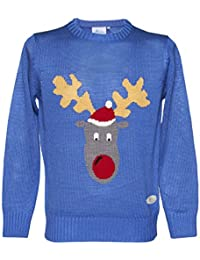 Reggie Reindeer Unisex Crazy Granny Christmas Knitted Jumper Mens Womens Sweater
