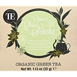TE - Teahouse Exclusives Organic Tea Fine China Sencha 16 Beutel, 2er Pack (2 x 32 g)