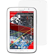 2 x atFoliX Anti-Choque Lámina Protectora de Pantalla Samsung Galaxy Note 8.0 (GT-N5110) Antichoque Película Protectora - FX-Shock-Antireflex