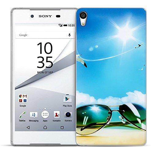 Sony Xperia M4 Aqua Bilder Case, Conie Mobile Motiv Hülle Backcover Rückschale, Silikon TPU Schutzhülle (Aqua Bilder)