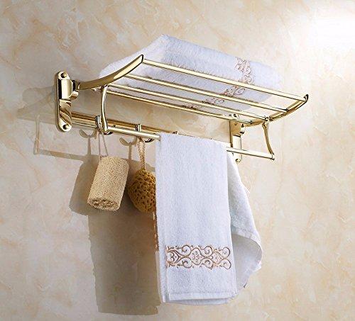 ZHGI Attività Attività placcato oro-salviette asciugamani di alta qualità gancio accappatoio asciugamano
