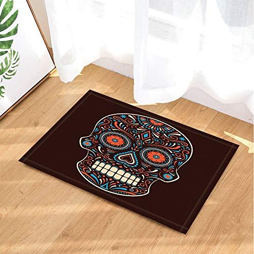 fdswdfg221 Sugar Skull Bath Rugs von Gorgeous National Style Pattern Dekor Schädel 40X60CM Badezimmer Matten Zubehör