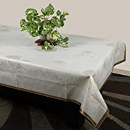 STITCHNEST Plastic 4 Seater Table Cover, 40x60-inches (White)