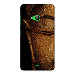 Delighted Lord Buddha Multicolor Back Case Cover for Lumia 535