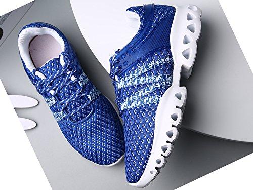 IIIIS-R Uomo Scarpe da Ginnastica Corsa Sportive Running Sneakers Fitness Interior Casual all'Aperto bianco
