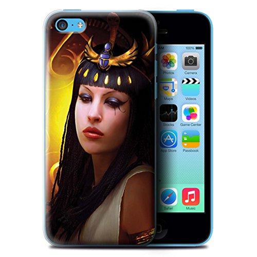 Officiel Elena Dudina Coque / Etui pour Apple iPhone 5C / Koalas/Escalade d'Arbres Design / Les Animaux Collection Cleopatra/Serpent Doré