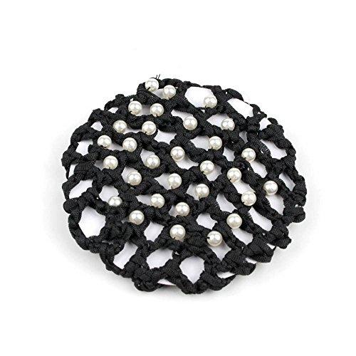 Praktisches Duttnetz/Haarnetz für tolle Frisuren aus Stoff (mit Perlen) 020-00228