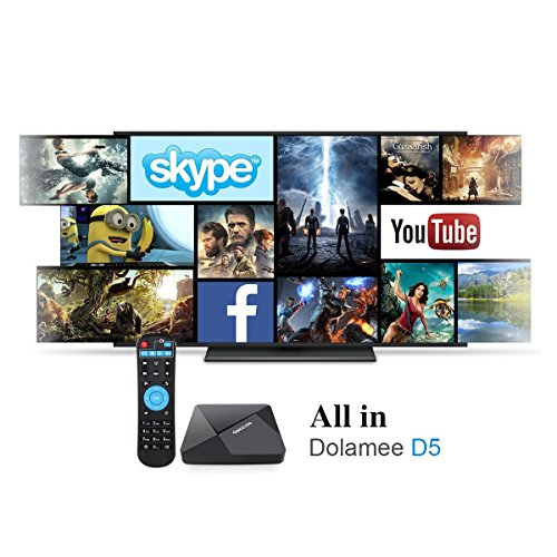 DOLAMEE D5 Android TV BOX with 1GB RAM 8GB ROM Rockchip RK3229 Quad-core  Support 4K UltraHD 2 4G Wifi