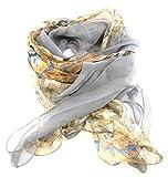 nails-beauty24Mujer Bufanda (826), Beige Marrón Azul, Animal Print, flores de colores, final zipfelig ranurado, gran diseño de flores, verano–, toalla de verano, ropa para mujer.