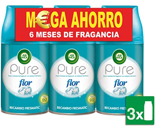 Air Wick Flor Freshmatic - Ambientador para el hogar, recambio fragancia, pack de 3 x 250 ml, total de 750 ml