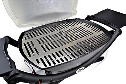 Grille en acier inoxydable/Grille de rechange adaptée à tous les barbecues de la gamme Weber Q200/Q2000