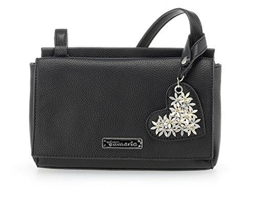 Tamaris Damen Milla Crossbody Bag S Umhängetasche, 5x16x22 cm Schwarz (Black)