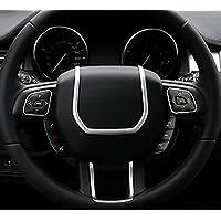METYOUCAR ABS cromo Volante Accesorios diseño de tiras de coche decorativo