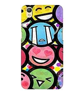 EPICCASE Emojis Mobile Back Case Cover For OPPO A37 (Designer Case)
