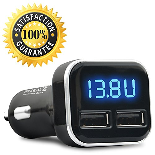 Dual USB Car Charger - Jebsens Top Rated Car Charger with Two USB Ports, 4.8A/24W, Built-in Safety Protection for iPhone 7 6 6S SE 5 5S 5C, Samsung Galaxy S7 S6 Edge Note 5 4, iPad Pro Air 2 mini