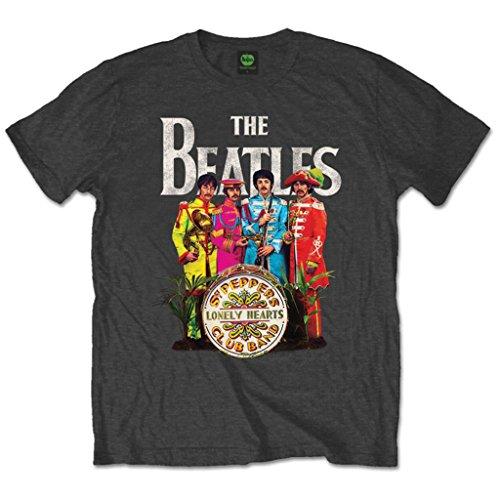 The Beatles ufficiale Sergeant Pepper Rock Maglietta Top Abbigliamento da uomo donna Unisex Black XXL