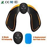 FishOaky EMS Hips Trainer, EMS Buttock Trainer, Hip Toner, Buttocks Stimulator for Leg/Hip Fitness Muscle Training Gear for Office, Home & Gym Fitness Workout Equipment Machine