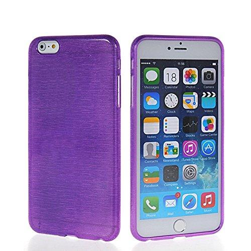 MOONCASE TPU Silicone Housse Coque Etui Gel Case Cover pour Apple iPhone 6 ( 4.7 inch ) Rose Voilet