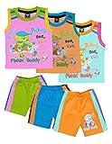 #8: ELK Boy's Multicolor Cotton Tshirt Trouser Combo Clothing Set