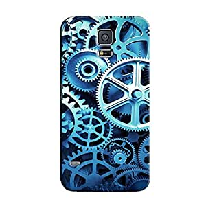GEARS BLUE BACK COVER FOR SAMSUNG GALAXY S5