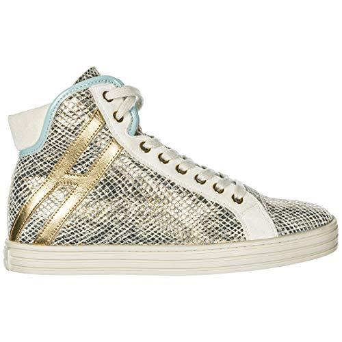 Hogan Rebel Sneakers Alte R182 Donna Oro 38 EU 0da93dfb902