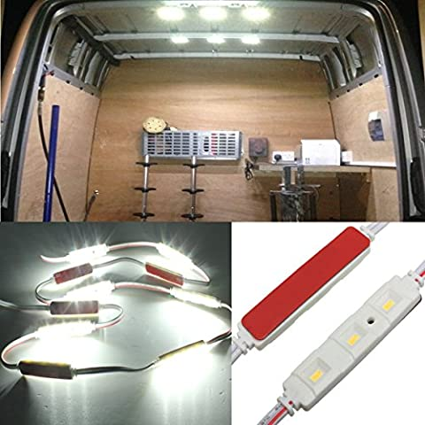 Audew Car Interior Lights Kit 10x3 LED Loading Lights Led Modules White Truck Ceiling lights For Hatchbacks/ LWB/ Van/ 4 Wheel Drive/ Land Rover/ MPVs