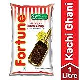 #6: Fortune Kachi Ghani Pure Mustard Oil Pouch, 1L