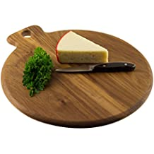 M&M Acacia Wooden Cutting Board/Circular Serving/Chopping Board - Premium(14X12 in) - MMD579