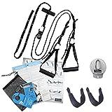 aeroSling ELITE Set BASIC - Hochwertiger Schlingentrainer mit Umlenkrolle und Türanker | Sling Trainer inklusive Zubehör | Fitness-Gerät für Krafttraining und Koordination