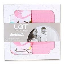 Baby Wickeldecke asu Baumwolle mit 5-in-1-Design (Wickeldecke, Schlafsack, Baby-Autositzbezug, Pflegedecke, Rülpertuch)