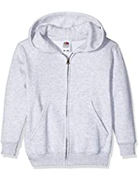 Fruit of the Loom Kids Classic Hooded Sweat Jacket, Sudadera para Niños