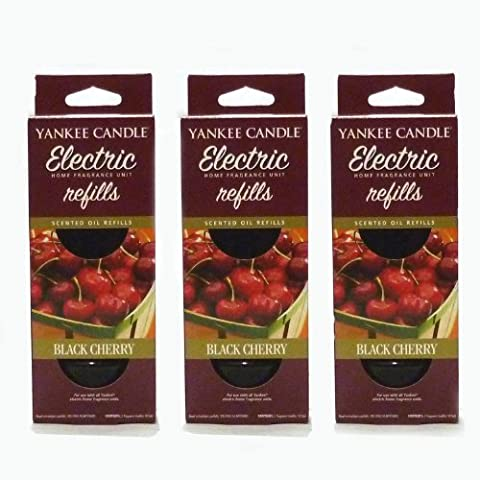 Yankee Candle - 3x Black Cherry Electric Plug-In Refill Twin