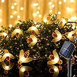Innoo Tech Solar Lichterkette Außen Bienen Lichterketten, InnooLight 30er LED 5m Warmweiß Außen Wasserdichte lichterkette Dekorative für Garten, Party, Hochzeit, Haus,Fest Deko Beleuchtung
