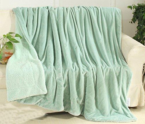 Yiyida copridivano per divano letto grande coperta fuzzy in microfibra per tutte le stagioni per sedia sdraio da letto reversibile, in pile morbido, 150x 200cm, green, 150 x 200 cm