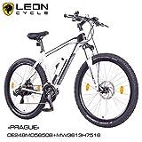 NCM Prague 27,5 Zoll Elektrofahrrad Mountainbike E-MTB E-Bike,Pedelec mit 250W Bafang Heckmotor 36V Li-Ion Akku mit 13Ah,weiß,schwarz