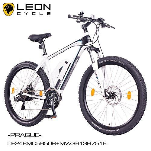 NCM Prague 27,5″ Zoll Elektrofahrrad Mountainbike E-MTB E-Bike,Pedelec mit 250W Bafang Heckmotor 36V Li-Ion Akku mit 13Ah,weiß,schwarz